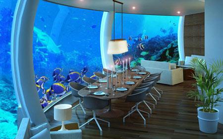 رستوران زیرآب,رستوران های مجلل زیر آب,بهترین رستوران های زیرآب