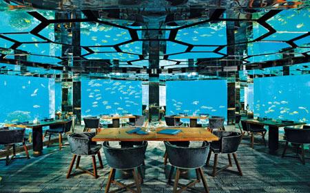 رستوران زیرآب,رستوران های عجیب و غریب,بهترین رستوران های زیرآب