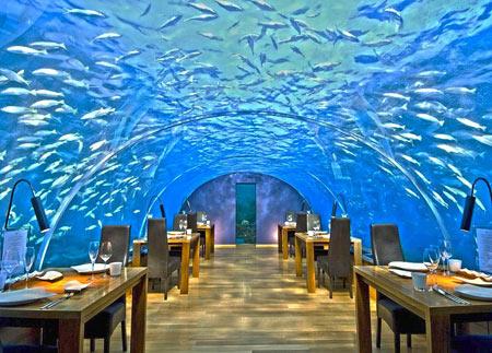 رستوران,رستوران های زیر آب,رستوران زیر آبیِ ایتها