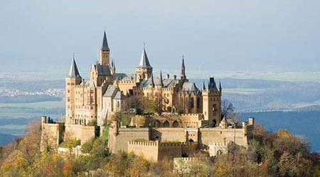 """قلعه """"هوهن زولرن"""" در آلمان,بهترین قلعه های دنیا,ترسناک ترین قلعه های دنیا"""