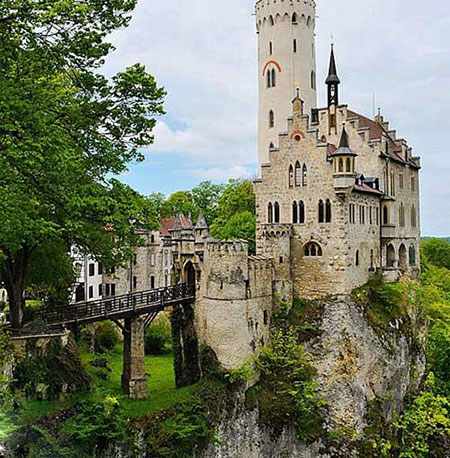 """قلعه """"لیختن اشتاین"""" در آلمان,جالبترین قلعه های دنیا, قلعه های دنیا"""