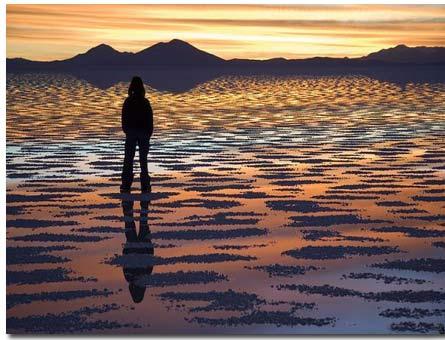 بزرگترین آینه طبیعی دنیا (تصویری)