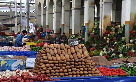 بازار سنتی شهر تونس,تونس,بازار میوه تونس