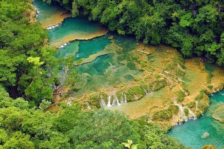 یکی از زیباترین نقاط جنگل های گوآتمالا