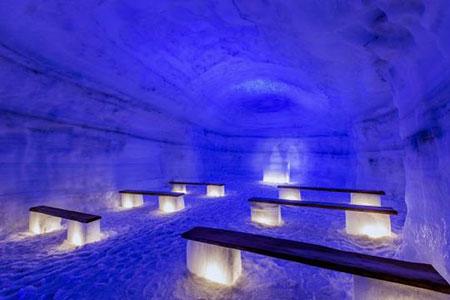 تونل یخی شگفت انگیز در ایسلند +عکس
