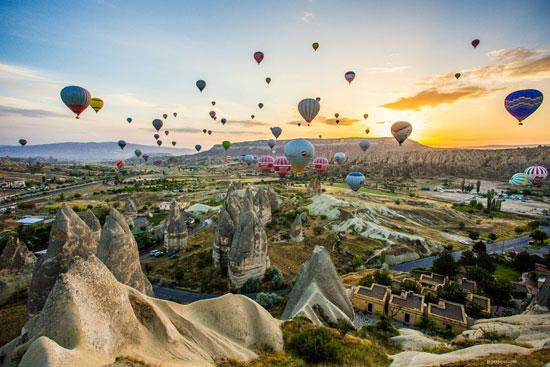 بهترین و زیباترین جاهای جهان برای بالن سواری